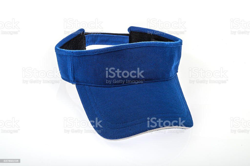 Adult golf blue visor stock photo