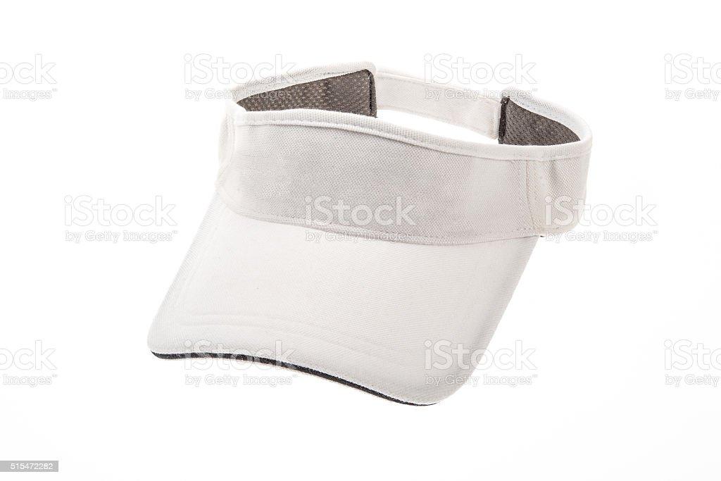 Adult golf visor on white background stock photo