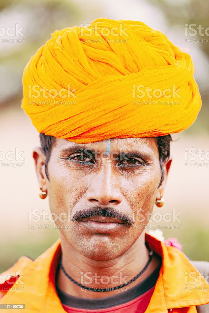 Adult Indian Man Traditional Clothing royalty-free stock photo
