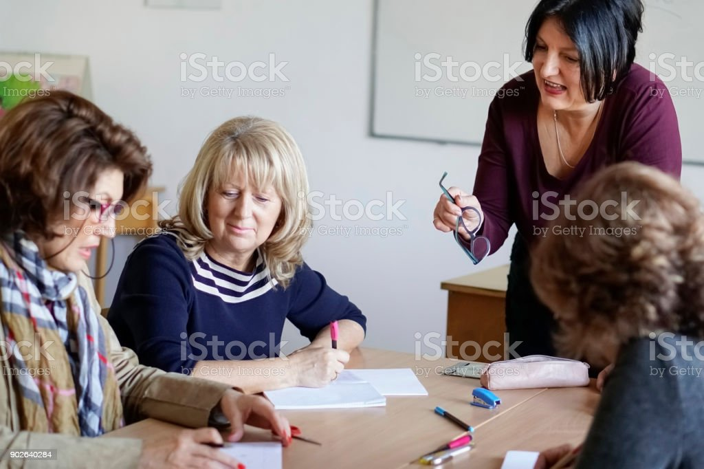 Adult Language Learning stock photo