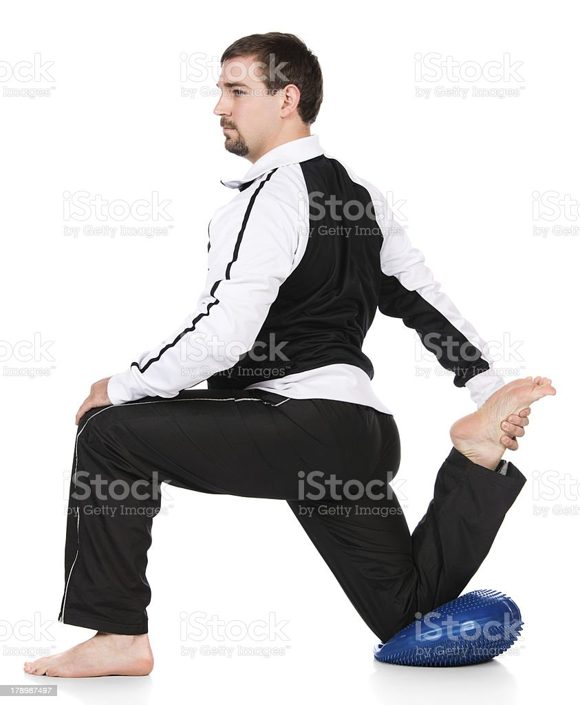 Adult male athlete royalty-free stock photo
