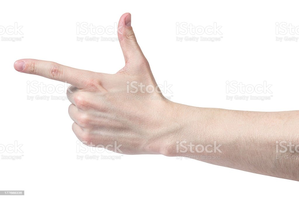 adult man hand measure angle stock photo