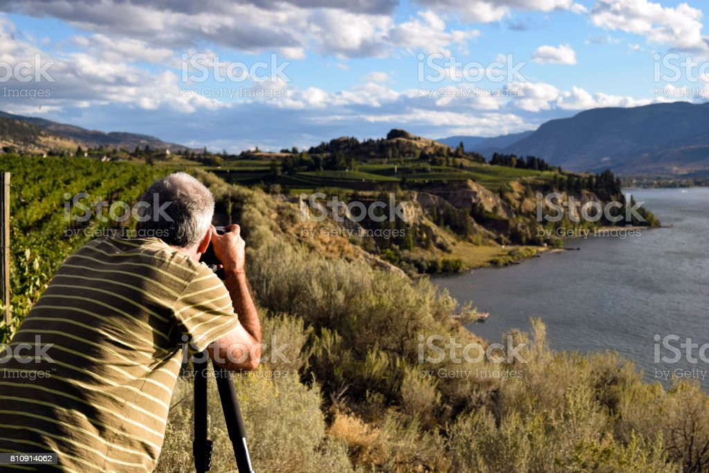 Adult Man Hobby Photographer stock photo