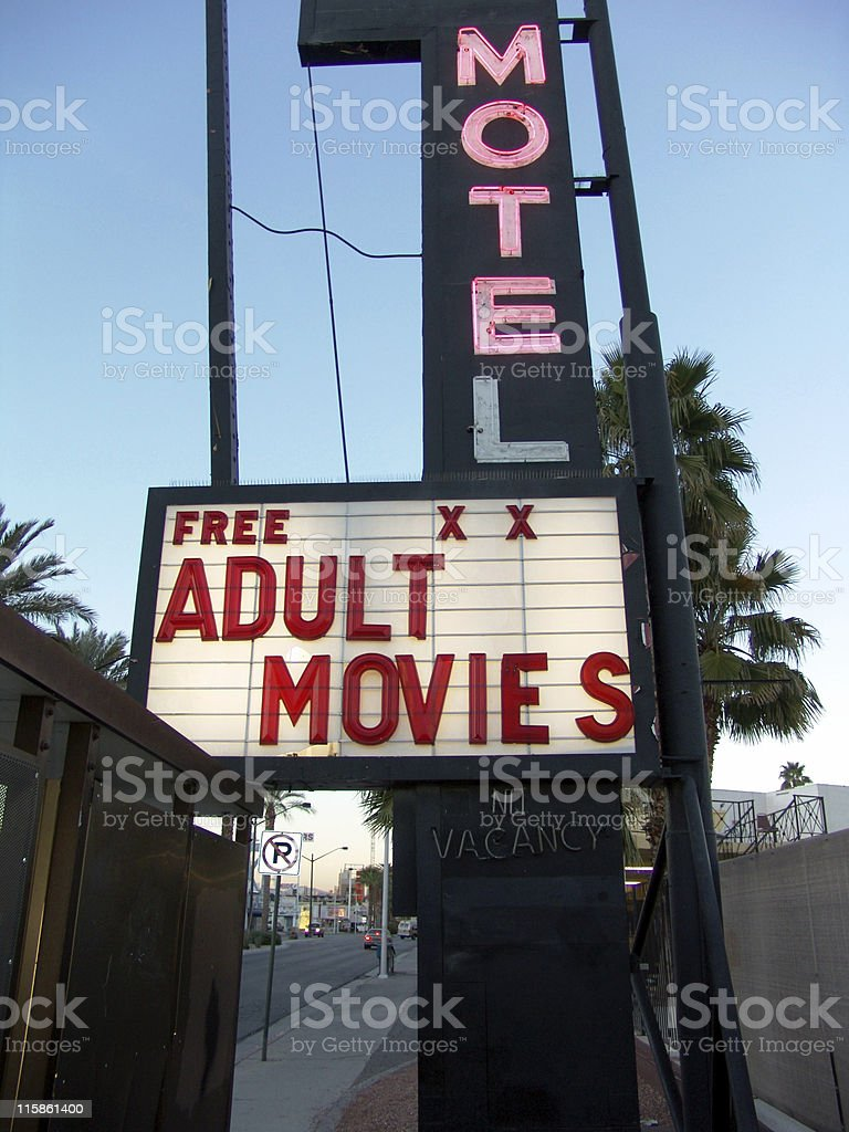 Adult Movies! royalty-free stock photo