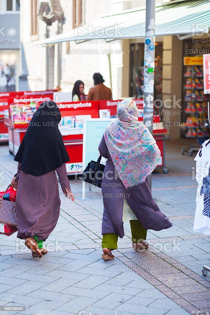 Adult muslim women in Iserlohn Стоковые фото Стоковая фотография