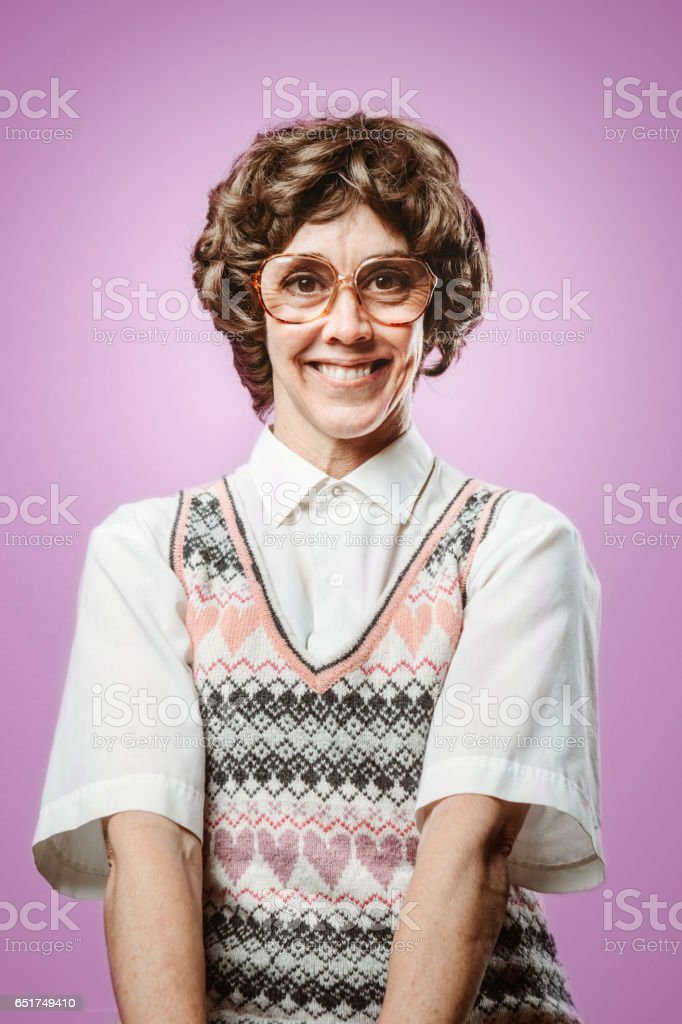 Adult Nerd Woman Looking for Love stock photo