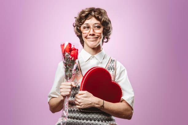Femme adulte Nerd à la recherche d'amour - Photo