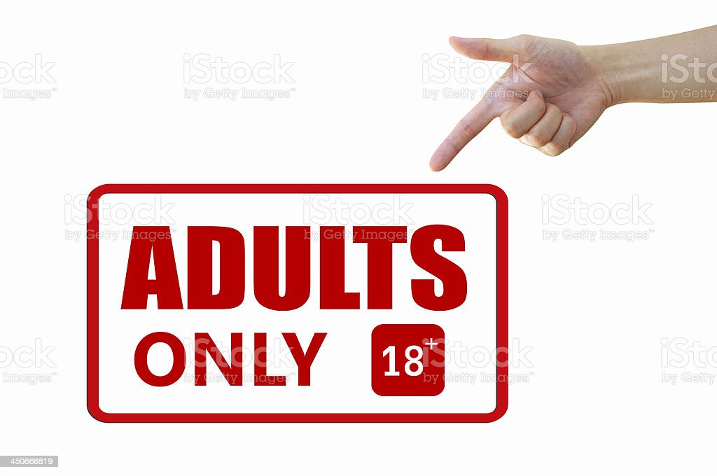 Adult only signage stock photo