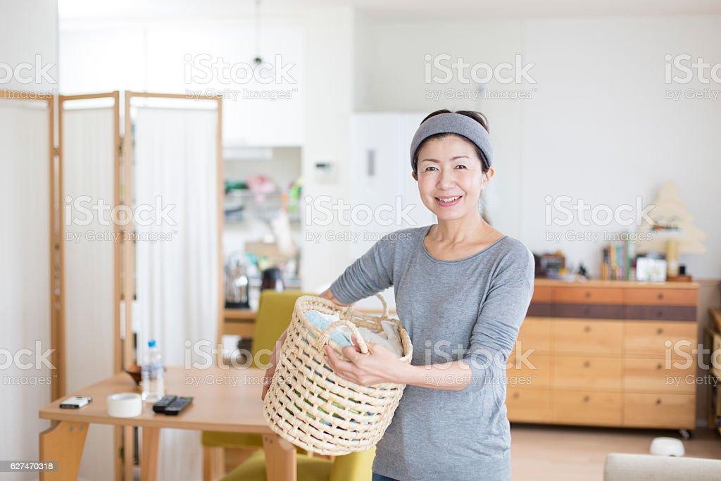 Adult Oriental woman stock photo
