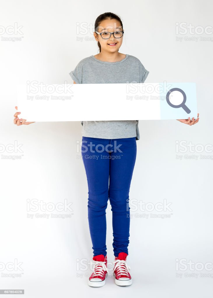 Adult People Holding Searching Box Magnifying Glass stock photo