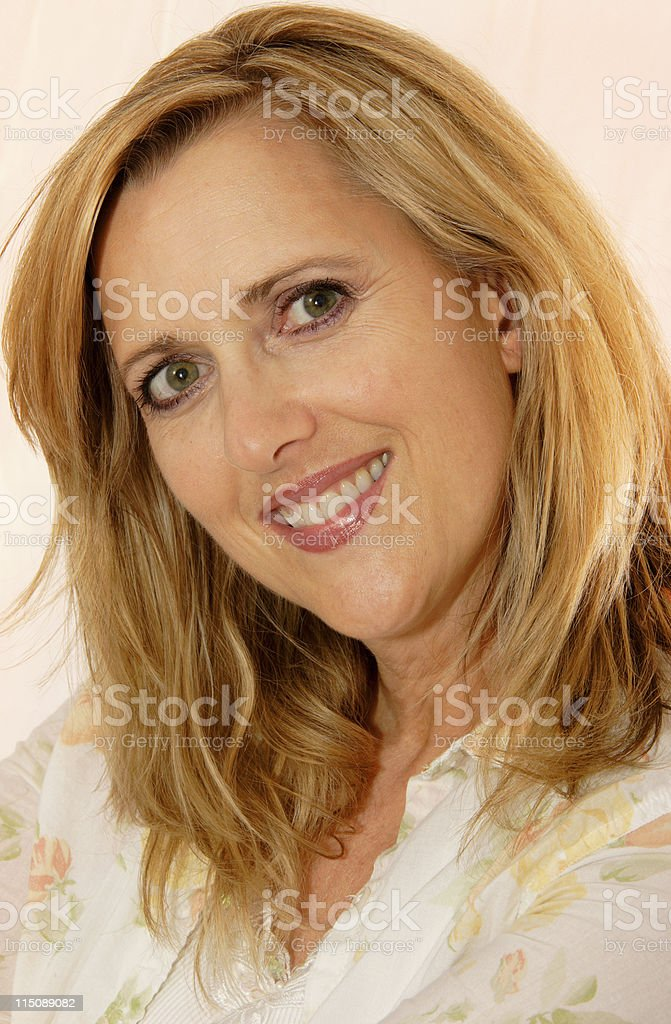 adult portraits - pretty middle aged woman royalty-free stock photo