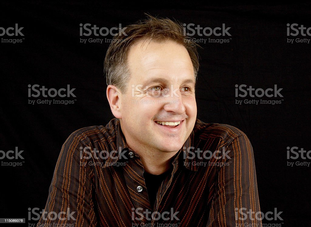 adult scenes - happy mature middle aged male royalty-free stock photo