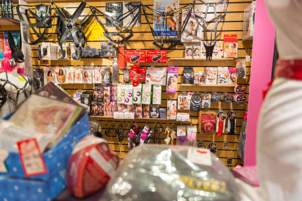 Adult shop and products - foto stock