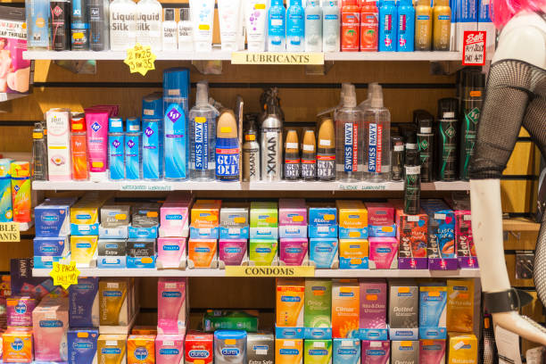 Adult shop products - foto stock
