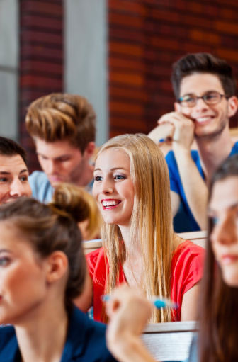 Adult Students At The University Stock Photo - Download Image Now