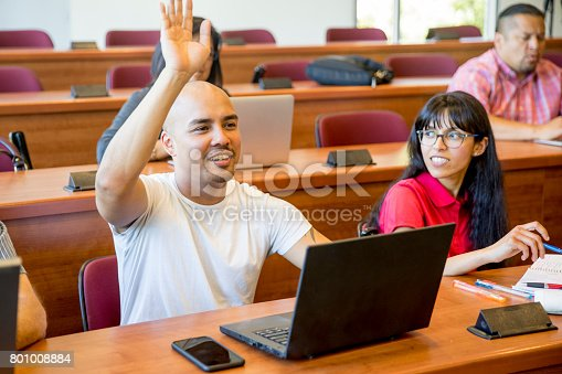 600055398 istock photo Adult Students in Classroom 801008884