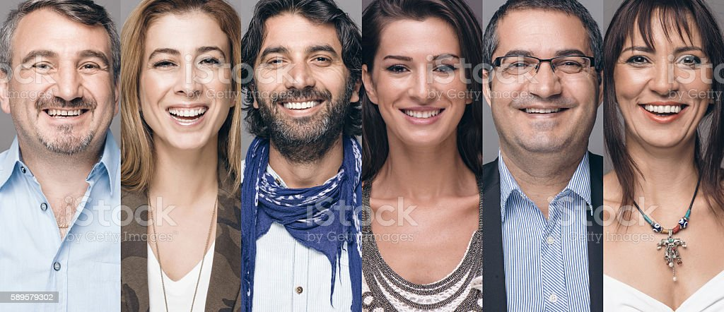 Adult team multiple image stock photo