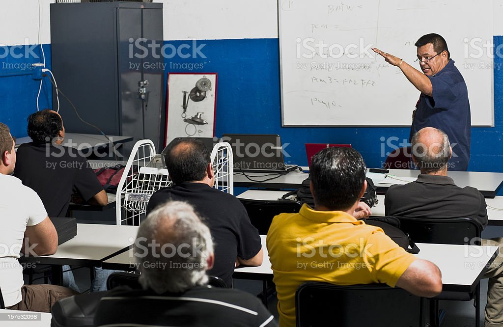 Adult Training Class stock photo