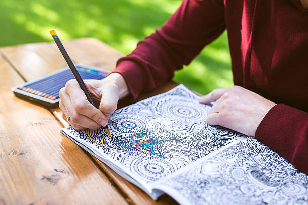 Adult Woman Coloring stock photo