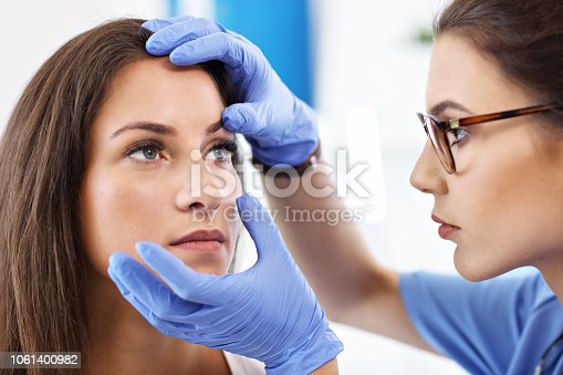 istock Adult woman having a visit at female oculist's office 1061400982