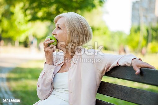 istock Adult woman in park 962136998