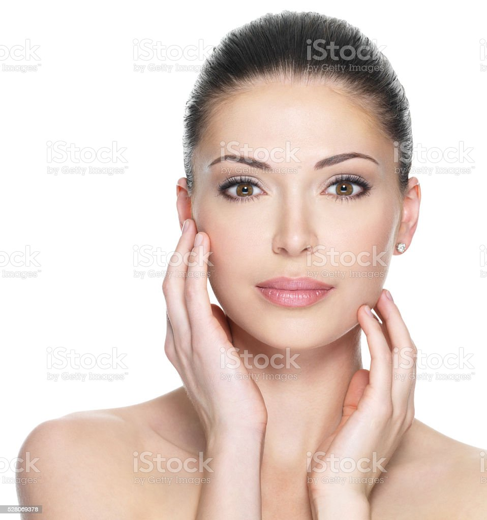 Adult woman with beautiful face royalty-free stock photo