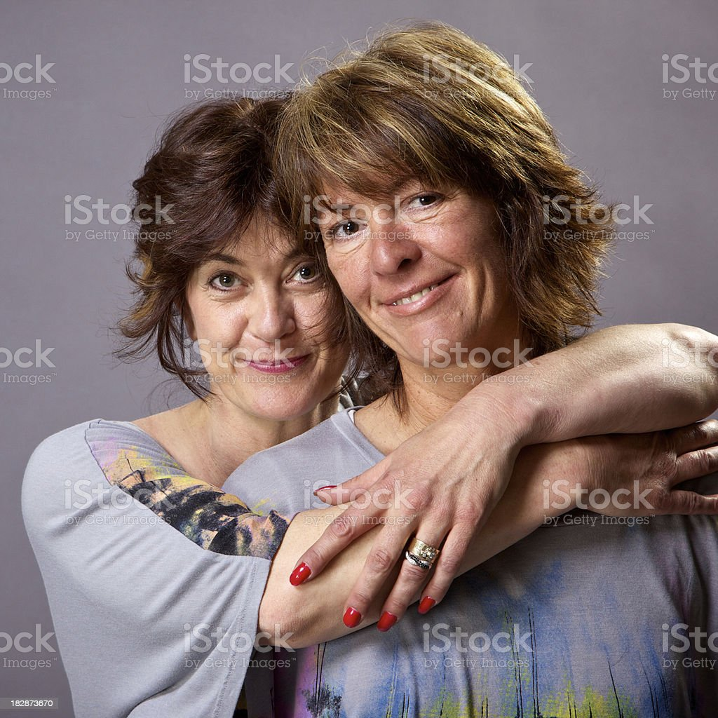adult women happy best friends royalty-free stock photo