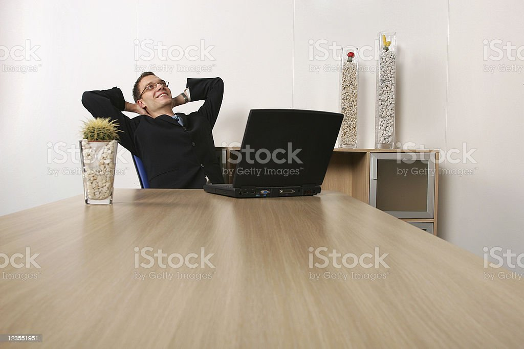 Adult young and successful businessman royalty-free stock photo