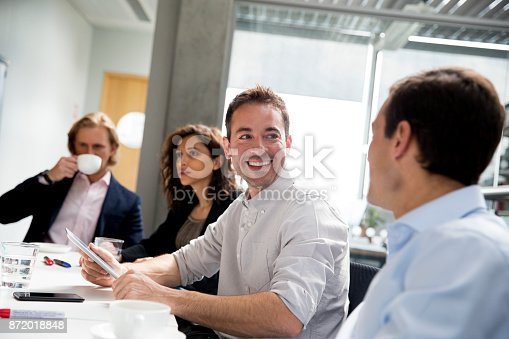 istock Adults in a Business Meeting with Work Colleagues 872018848