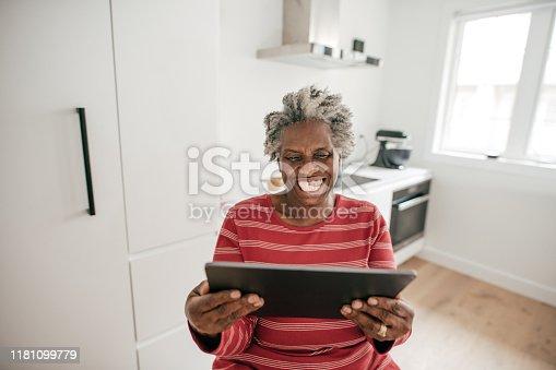 Grandma watching video