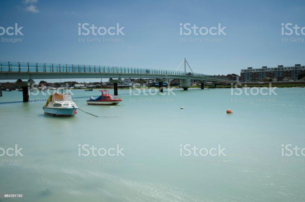 Adur Ferry Bridge, Shoreham-by-Sea royalty-free stock photo