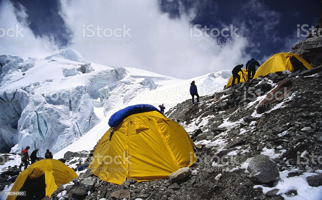 Advance base camp royalty-free stock photo