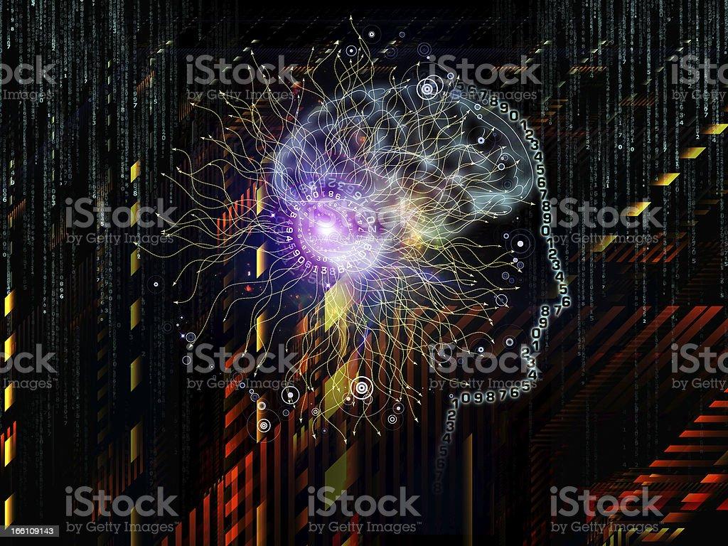 Advance of Human Technology royalty-free stock photo