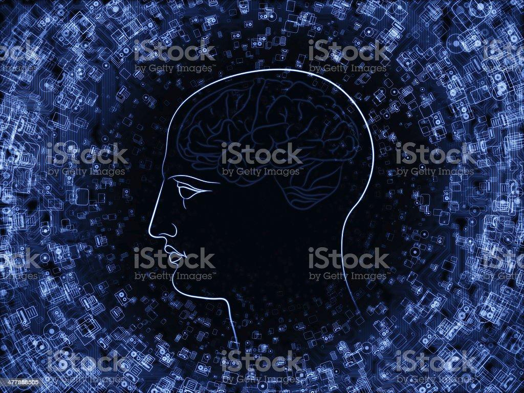 Advance of Intelligence royalty-free stock photo
