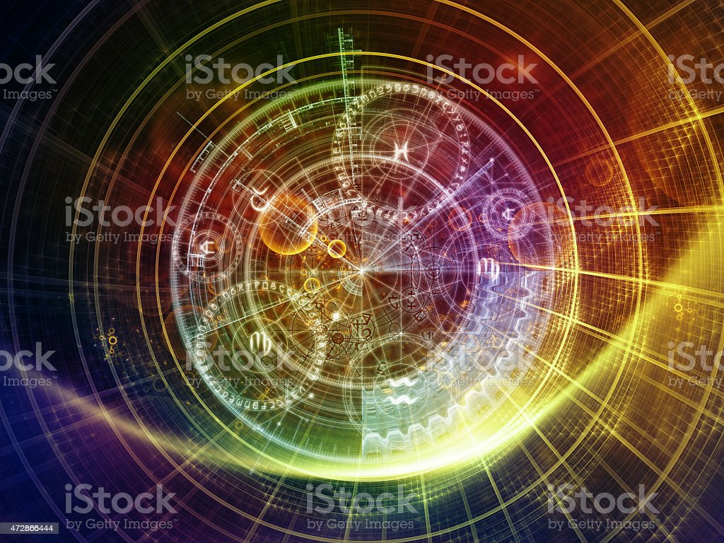 Advance of Sacred Geometry stock photo