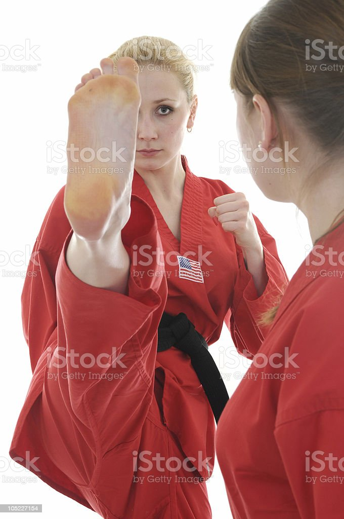 Advanced partner drills stock photo