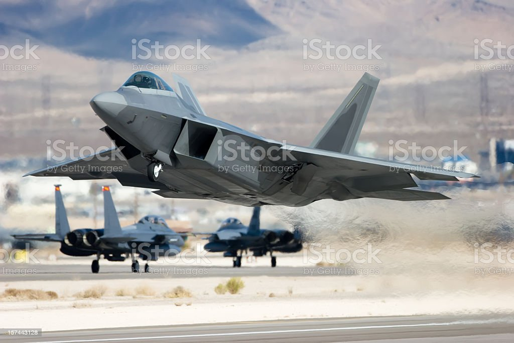 Advanced Tactical Fighter royalty-free stock photo