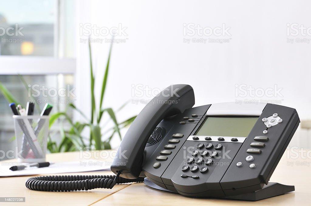 Advanced VoIP Phone stock photo