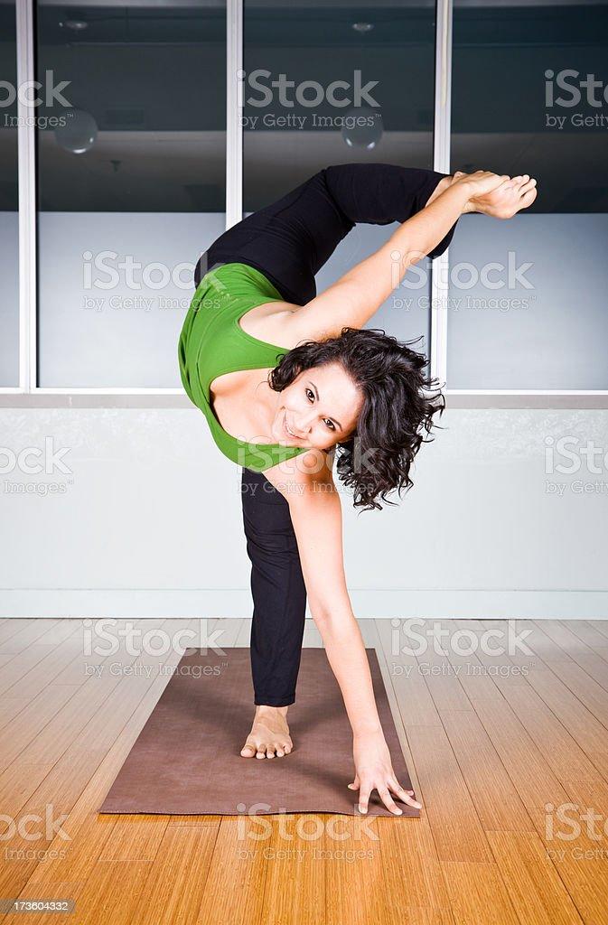 Advanced yoga royalty-free stock photo