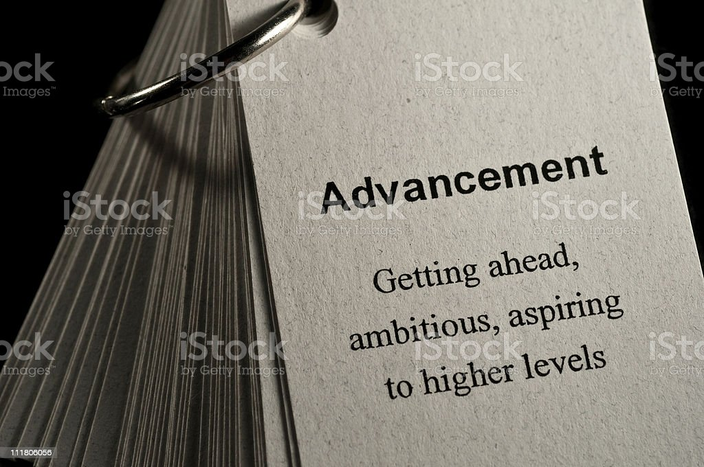 Advancement Definition royalty-free stock photo