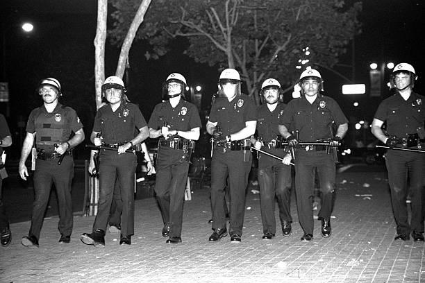 LAPD Advances stock photo