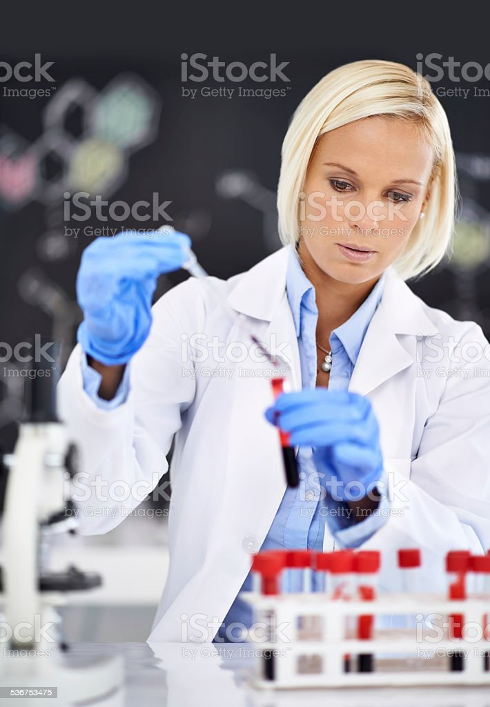 Advancing medical research stock photo