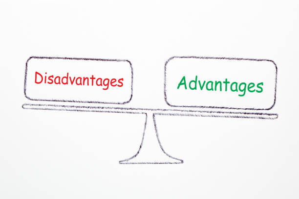 Advantages And Disadvantages Concept stock photo