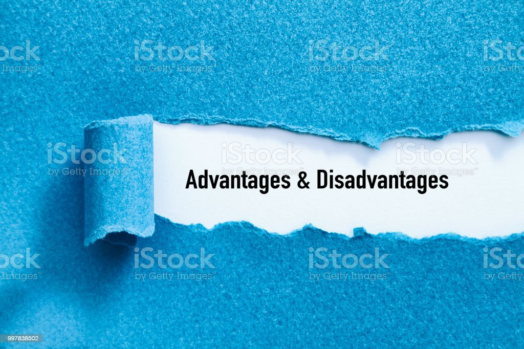 Advantages and Disadvantages stock photo