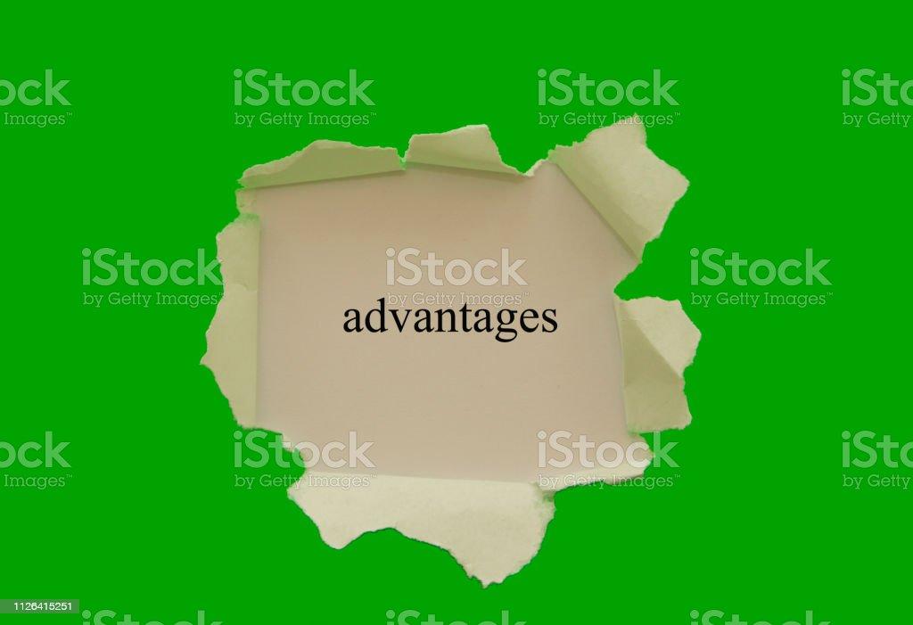 Advantages stock photo