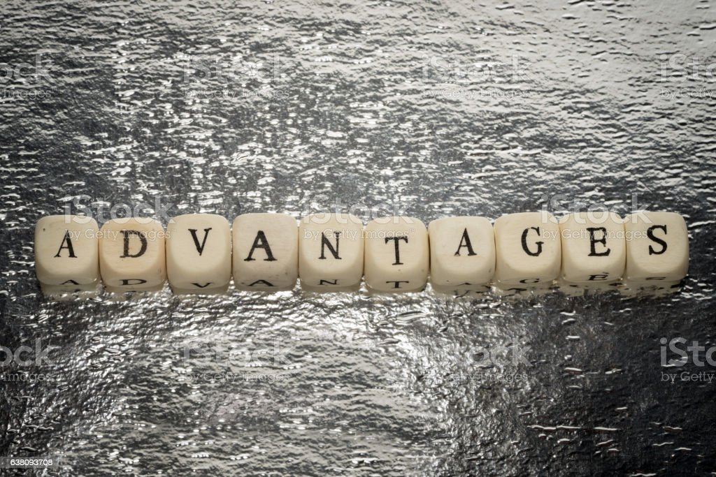 Advantages word stock photo