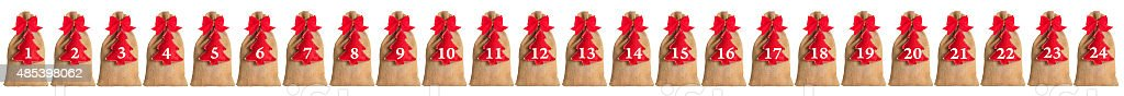 Advent calendar isolated stock photo