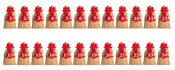 advent kalender isoliert - sprüche kalender stock-fotos und bilder