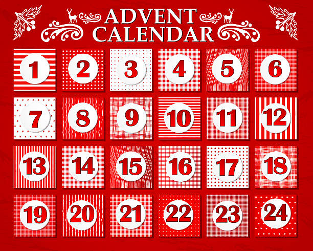 advents-kalender - adventskalender stock-fotos und bilder