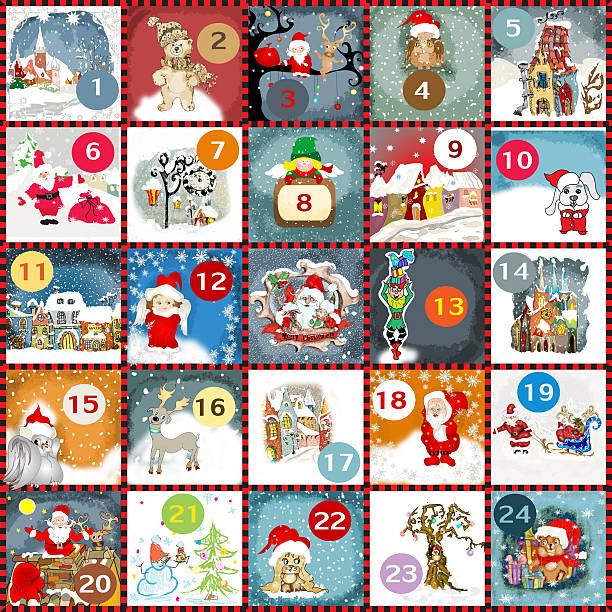 advent calendar - adventskalender stock-fotos und bilder